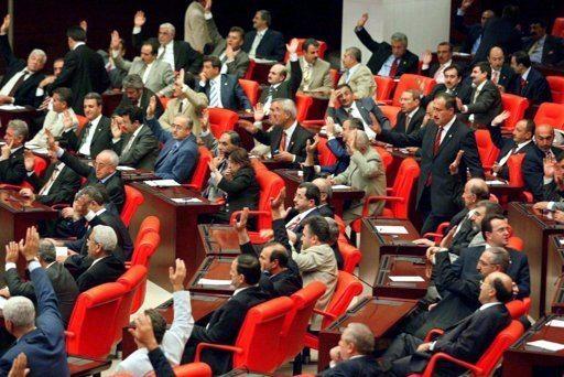 Wer entdeckt eine Frau auf diesem Bild? Im türkischen Parlament in Ankara sind nur 14 Prozent der Abgeordneten weiblich