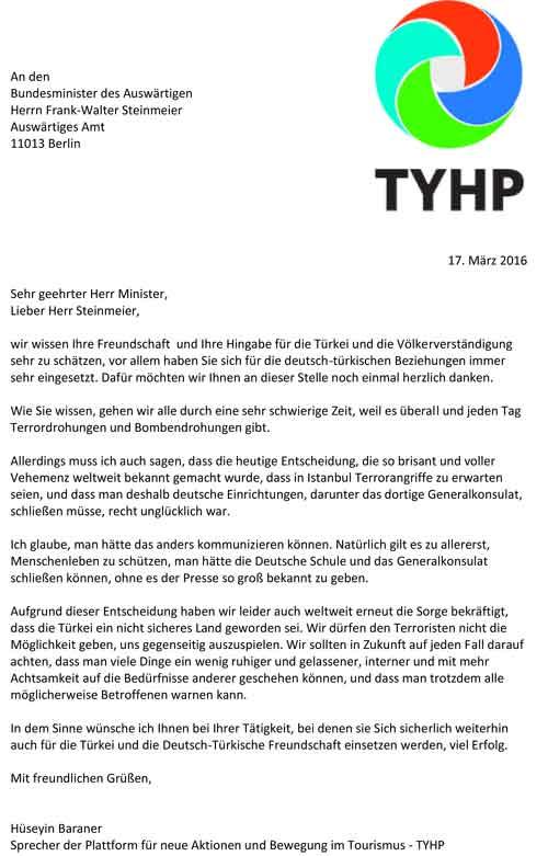 Brief an Herrn Steinmeier