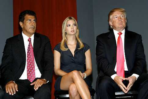 NEW YORK - SEPTEMBER 19:  Tevfik Arif, Ivanka Trump and Donald Trump at the Trump Soho Launch on September 19, 2007 in New York City.  (Photo by Mark Von Holden/WireImage)