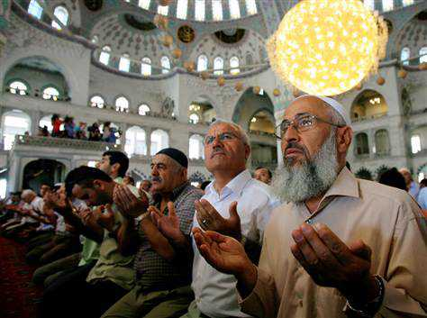 Muslims at prayer in Turkey