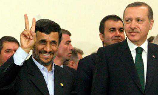 Iran's President Mahmoud Ahmadinejad and Turkish Prime Minister Receb Tayyib Erdogan. Photo AFP.