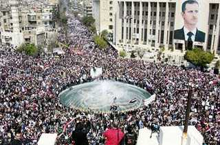 Pro-Assad 2011 rally in Damascus