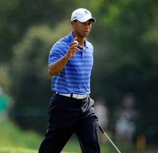 Tiger Woods moved second on the all-time list of PGA Tour wins with victory at the AT&T National © Getty Images