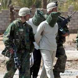 Turkish Soldiers Hooded by America Sulaymaniyah, Iraq. 4 July 2003