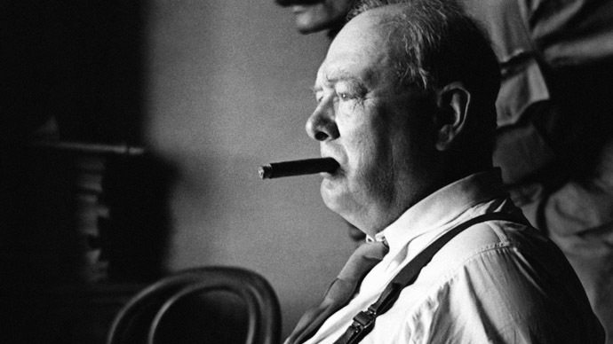 British Prime Minister Sir Winston Churchill (AFP Photo/Cpt Tanner, No 2 Army Film and Photographic Unit)