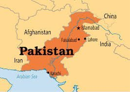 pakistan- map