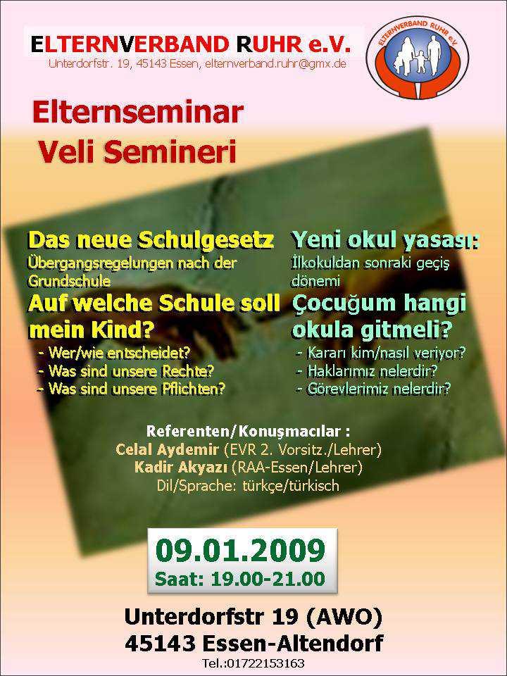 Almanya'da veliler için Seminar