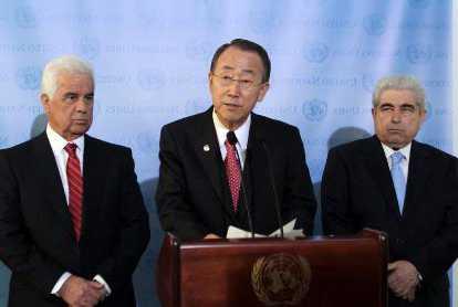 Eroglu, Ban Ki Moon, Hristofyas by Ata ATUN