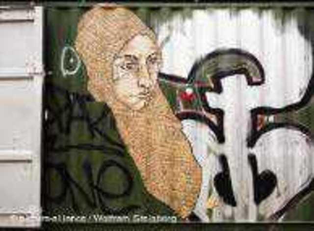 Berlin'de LNY imzalı bir street art çalışmasının teması da İslam