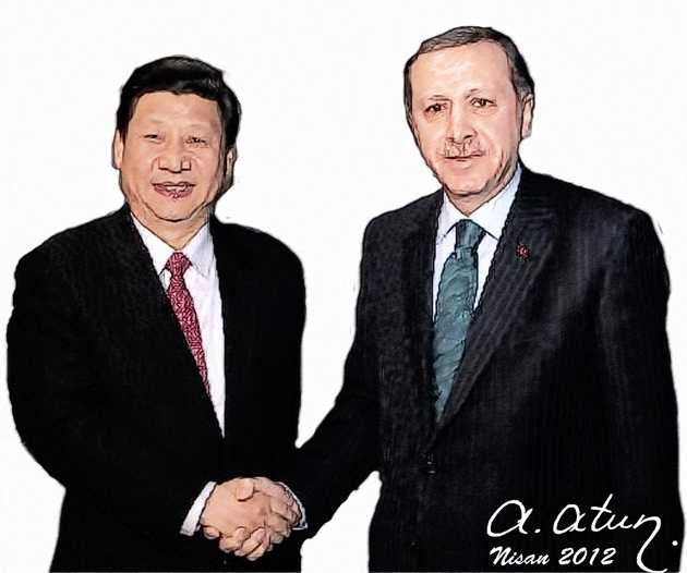 Erdoğan ve Xi Jinping by Ata ATUN