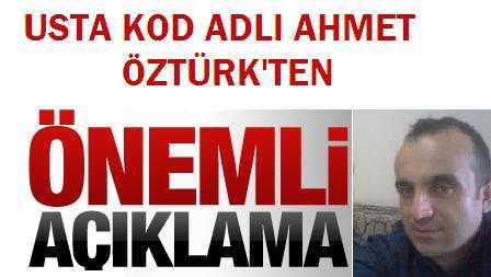 Ahmet Öztürk açıklaması