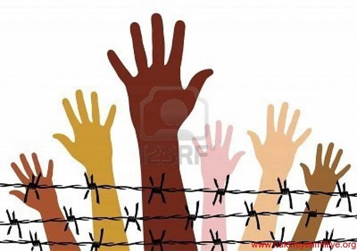 Vector - Human rights - stock illustration, royalty free illustrations, sto
