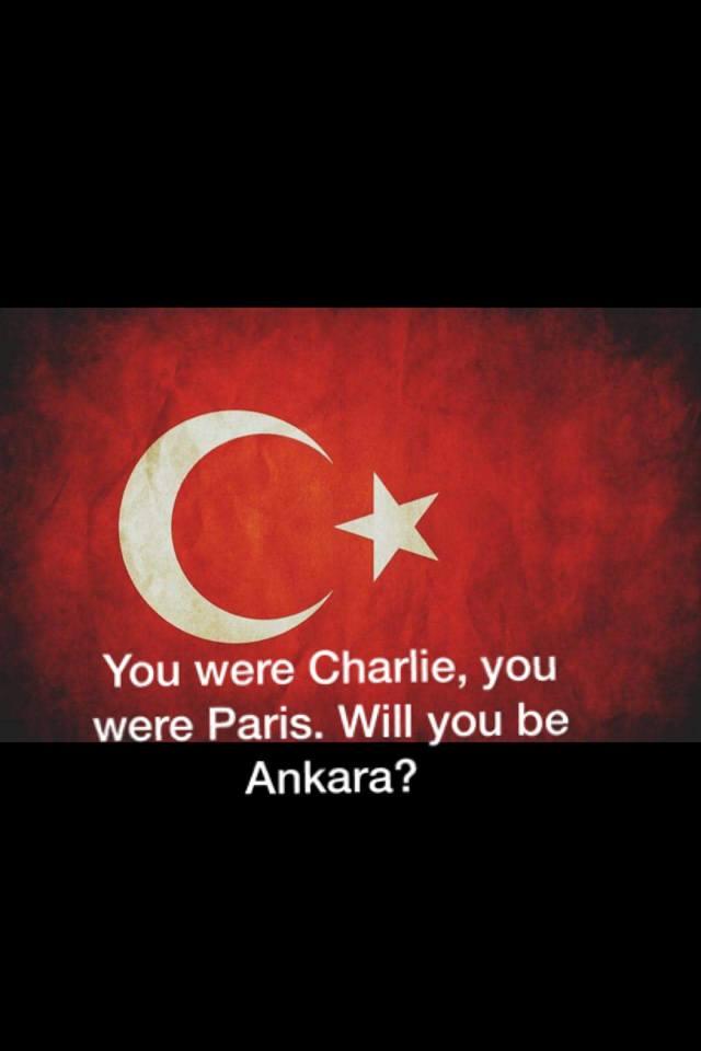Charlie oldunuz Paris oldunuz Ankara olacak mısınız?