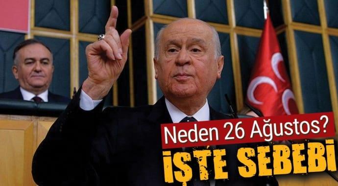 Devlet Bahçeli erken seçim tarihi verdi: 26 Ağustos