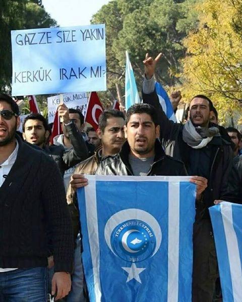 Irak Türkmenleri Gazze Kerkük ayrımını protesto ediyor