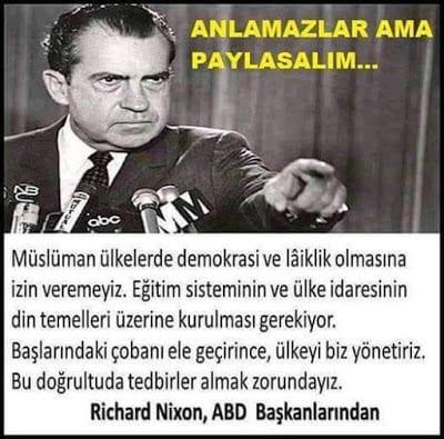 Richard Nixon'un müslüman ülkelerde demokrasi ile ilgili görüşü