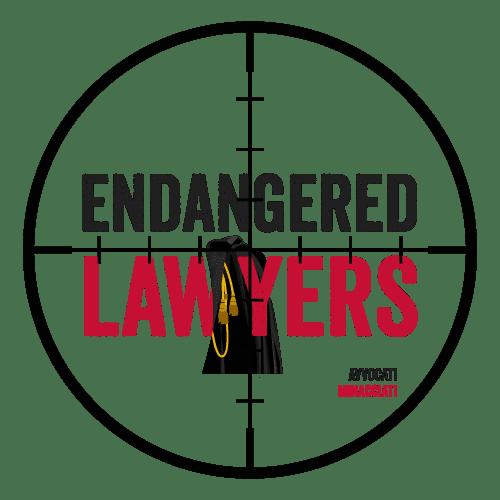 tehlikedeki avukatlar örgütü logosu