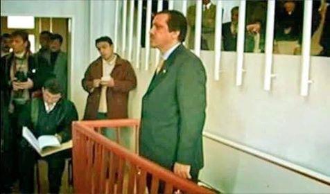Recep Tayyip Erdoğan mahkemede hakim önünde
