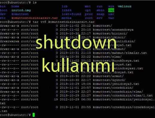 """Linux """"shutdown"""" kullanımı haberi Haberettik.com"""