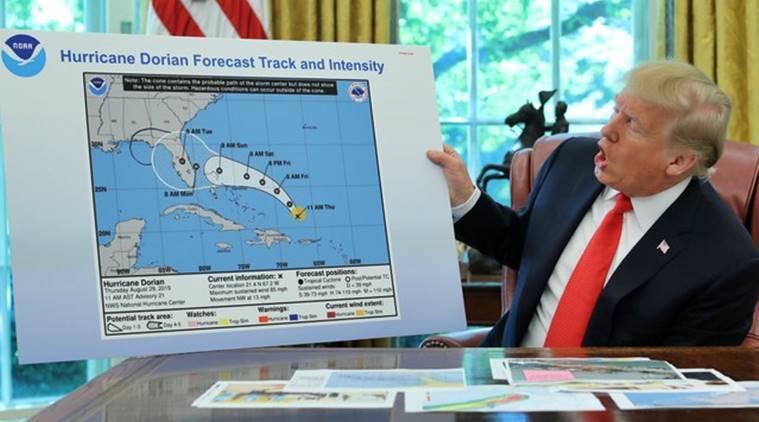 Donald Trump, 'hata yaptım' dememek için sahte meteoroloji haritası kullandı