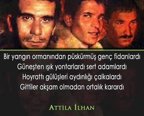 Deniz Gezmiş, Yusuf Aslan, Hüseyin İnan, Sinan Cemgil, Alpaslan Doğan 68 öğrenci hareketi Attila İlhan şiiri