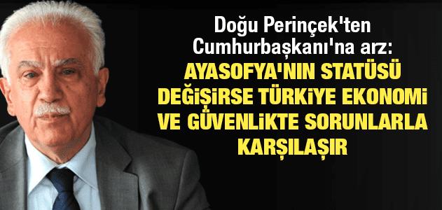 Doğu Perinçek Erdoğan'a seslendi