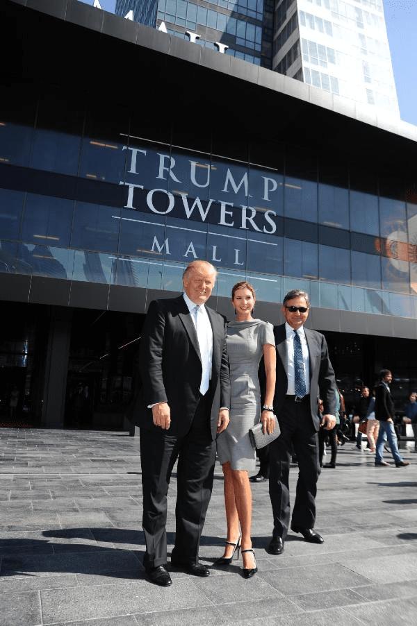 Donald Trump kızı Ivanka Trump ile trump Towers İstanbul'da