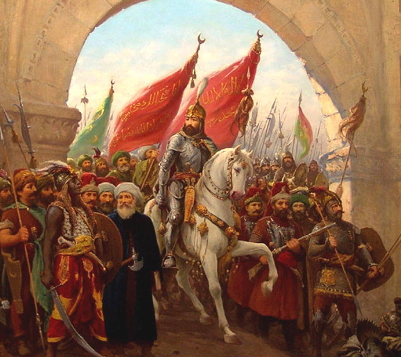 Fatih Sultan Mehmet İstanbul'a girerken