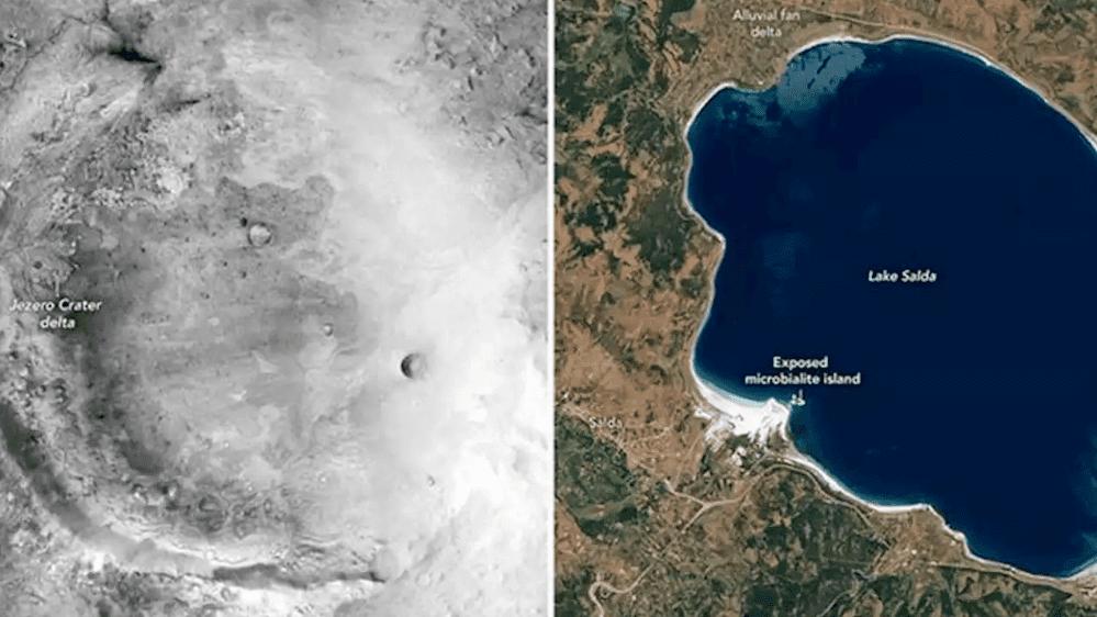 jezero krateri mars ve salda gölü Türkiye