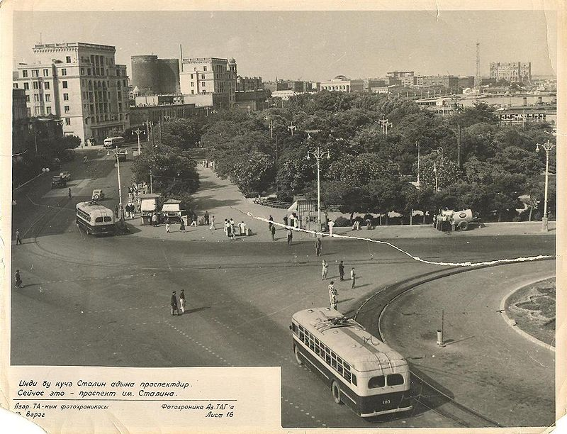 Sovyetler Birliği zamanında Bakü şehri