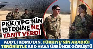 ABD'li komutan aranan PKK'lı terörist ile görüştü - Son Dakika Haberler